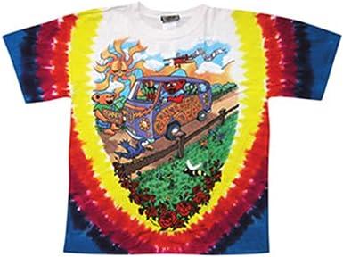 New GRATEFUL DEAD Summer Tour Bus Tie Dye T Shirt