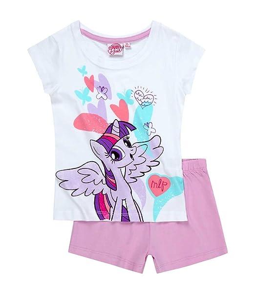 My Little Pony New con Licencia Oficial de Ropa de Descanso para niñas de Manga Corta para Pijama ilustrar Estilos Diferentes de Fotos de Madera de ...