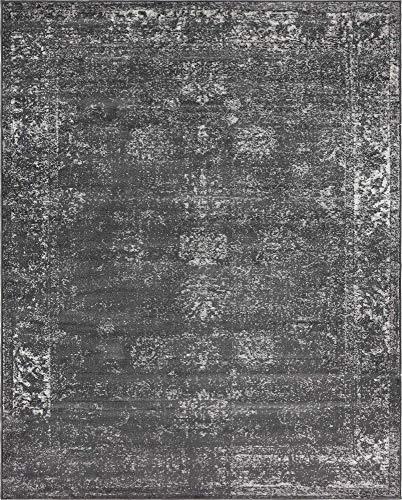Unique Loom 3134057 Sofia Collection Traditional Vintage Beige Area Rug, 8' x 10' Rectangle, Dark Gray (7 X 10 Area Rug Prime)