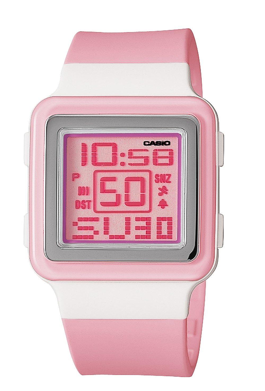 Casio LDF20 - 4 AV rosa Resina de la mujer reloj de cuarzo con esfera Digital: Casio: Amazon.es: Relojes