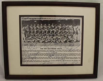 5b3cc3cce1f Image Unavailable. Image not available for. Color  1967 Baltimore Colts  Autographed Signed Framed 8x10 Photo 37 Sigs Unitas Moore JSA