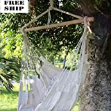 Hammock Hanging Chair Air Sky Swing Outdoor/Indoor Porch Patio Solid Wood 250Lbs