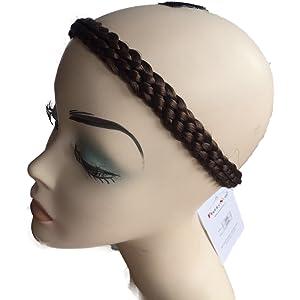 97b19400eb40e3 PRETTYSHOP Zopf Haarteil Haarband Stirnband Haarschmuck geflochten div.  Farben HZ6