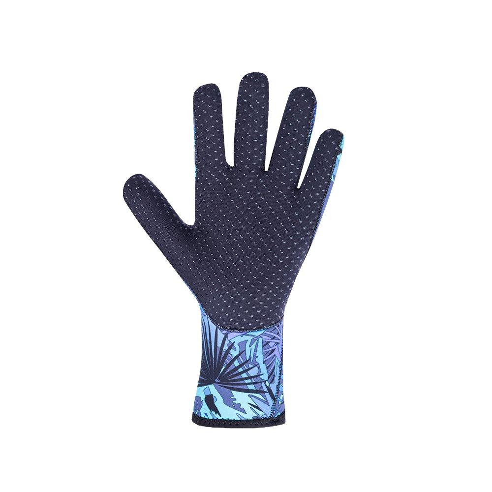Tofern Mens Womens Professional Diving Gloves Waterproof Thickened 3mm Neoprene Anti-Slip Warm Ergonomic Wetsuit Glove for Snorkeling fishing kayaking Boating Watersports Surfing