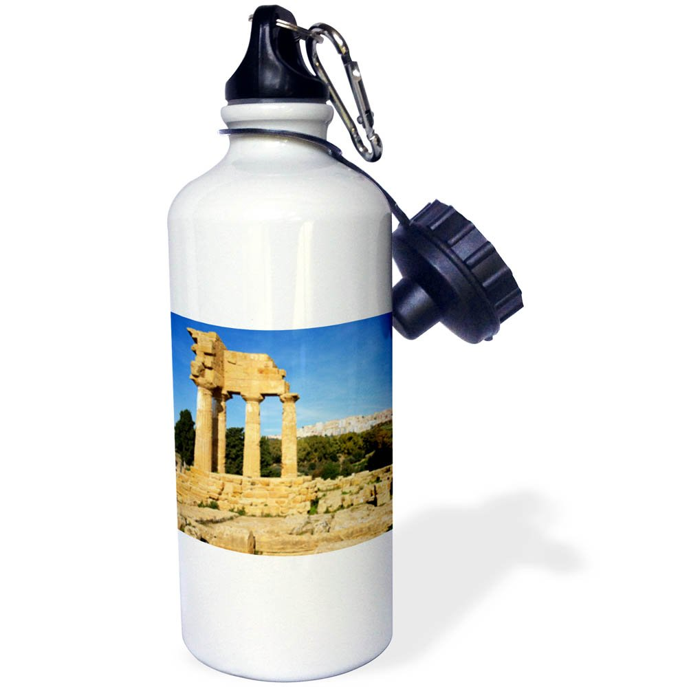 3dRose Danita Delimont - Ruins - Italy, Sicily, city of Agrigento temple ruins of the old city. - 21 oz Sports Water Bottle (wb_277618_1)