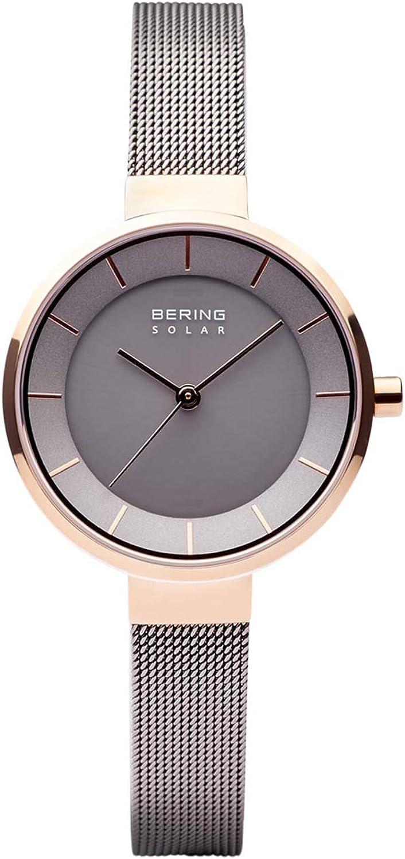 BERING Reloj Analógico para Mujer de Energía Solar con Correa en Acero Inoxidable 14631-369
