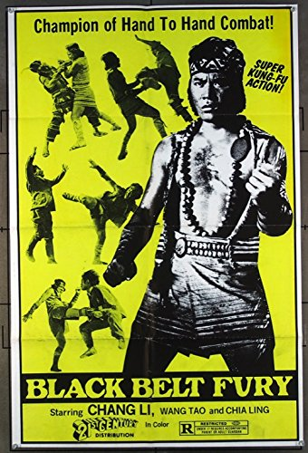 Black Belt Fury () Original Movie One-Sheet Poster MARTIAL ARTS FILM DAY-GLO COLOR AWESOME LOOK!