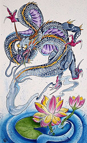 Ghost Lotus Dragon by Derek Dufresne Japanese Mythology