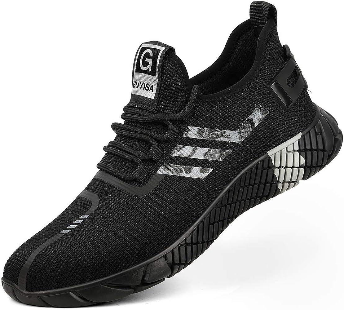 MandyQ Steel Toe Sneakers for Men Women