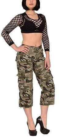 52c5b62cee0 by-tex Femmes Pantalon Capri Femmes Shorts Bermuda Femmes Shorts Cargo  Femmes Shorts Militaire H149