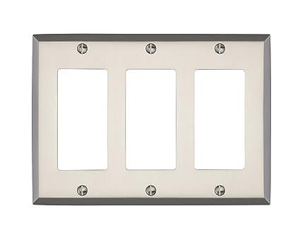 Maykke Graham Triple Rocker Light Switch Cover Premium Solid Brass 3