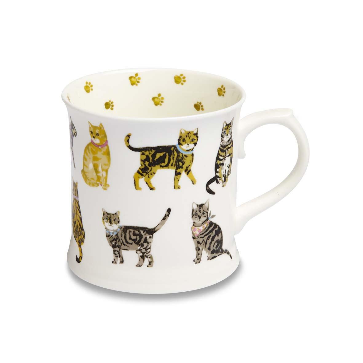 Multi-Colour by Cooksmart Smart Cook COOKSMART Cats on Parade Fine China Tankard Mug