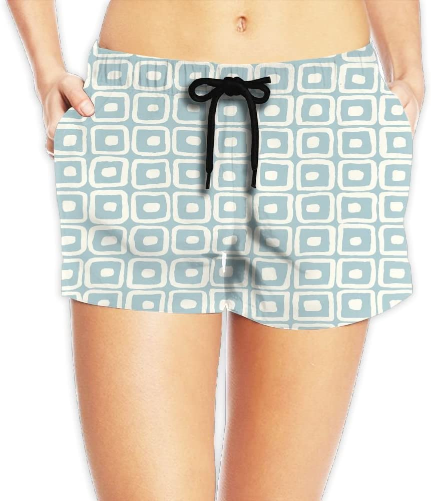 LENSITON Womens Oceanside Beach Short Pants Swim Short