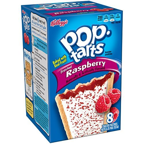 Pop-Tarts, Frosted Raspberry, 8-Count Tarts, 14.7 ounces (Pack of 12) by ()