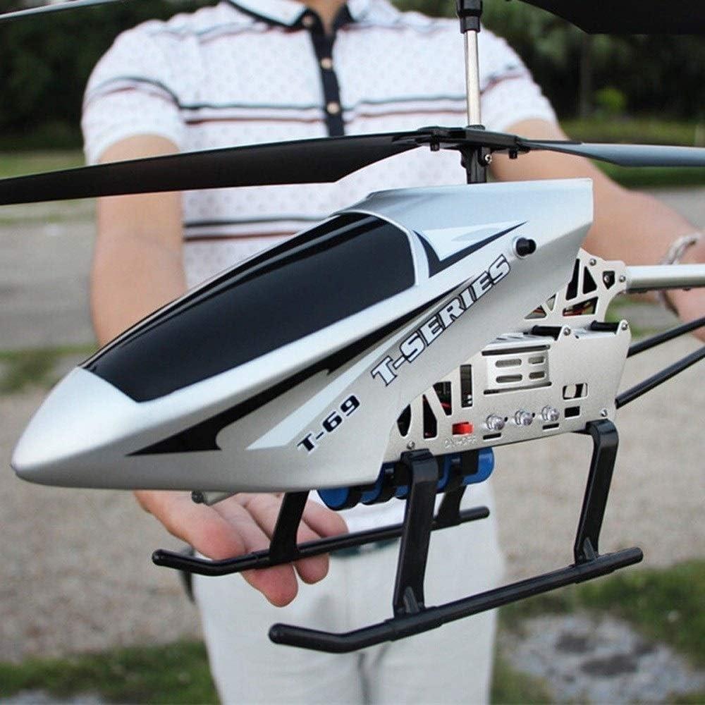 Kikioo Buena calidad, super grande teledirigido de radio de 2,4 GHz de 3,5 Canal Gyro Helicóptero RC LED de interior al aire libre helicóptero estable fácil de aprender buen funcionamiento Boy avión d