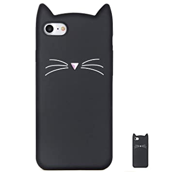 HopMore Gato Funda para iPhone 7 Plus/iPhone 8 Plus Silicona Motivo 3D Carcasa Divertidas Gato TPU Gel One Piece Ultrafina Slim Case Antigolpes Caso ...