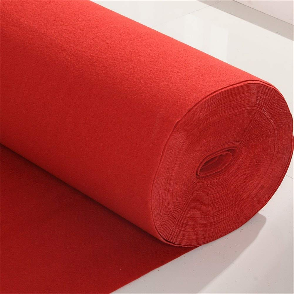 Wedding Aisle Runner Runner Carpet for Wedding Ceremony Party/Children Party Decoration (Size Can Be Customized) LEBAO (Color : Red, Size : 190m)