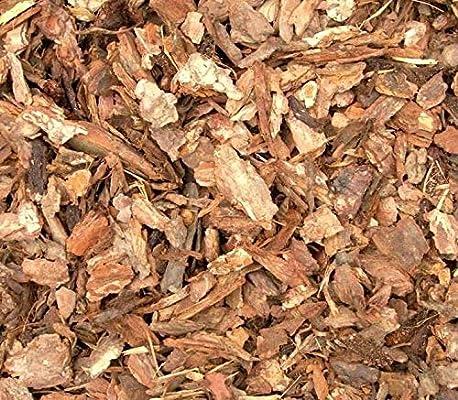 Pino corteza Mulch, 100% natural pino corteza Mulch, Casa Planta Cover Mulch, Potting Media, y más (4qt): Amazon.es: Jardín