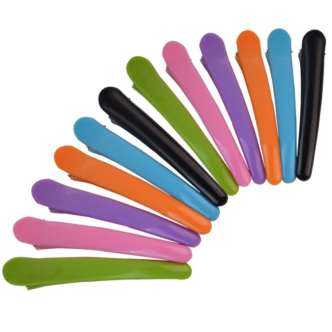 Rbenxia Hair Clips 12pcs Large 11.5cm Multicolor Plastic Duckbill Clips Hairpins Alligator Clip Hair Barrettes