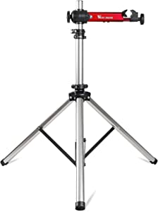 Bike Repair Stands, Adjustable & Foldable Bicycle Maintenance Rack Workstand for Home Mechanics, 85lbs Extensible Tripod Base Park Tool Repair Stand for Road & Mountain Bikes with Storage Bag