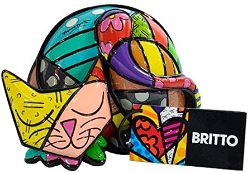 Limited Edition Romero Britto Cat Figurine Tim