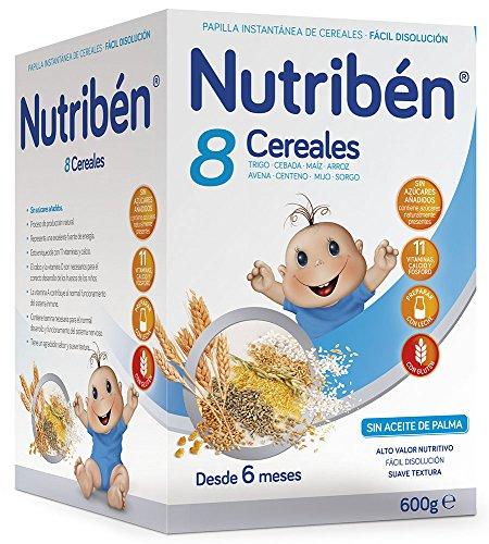 Nutribén Papilla 8 Cereales, Vitaminas y Calcio - 600 gr: Amazon.es: Alimentación y bebidas