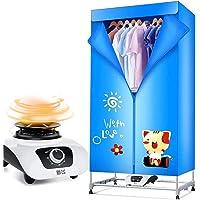 Electric dryer YHz@MéNage Silencieux D'éConomie D'éNergie De Chauffage SèChe-Linge, Double Couche à SéChage Rapide Garde-Robe SèChe-BéBé, Ctp Chauffage - Bleu -70cm * 45cm * 150cm