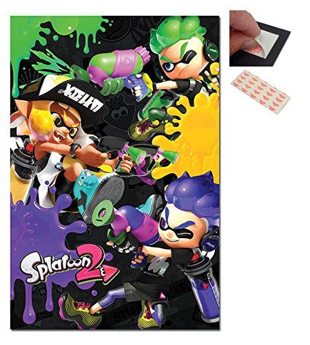 Splatoon 2 Three Way Battle A Poster - 91.5 x 61cms