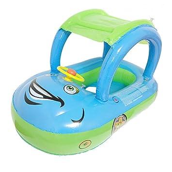 Moliies Anillo de natación del niño del Asiento del Flotador del Agua del bebé de la sombrilla del cartón: Amazon.es: Juguetes y juegos