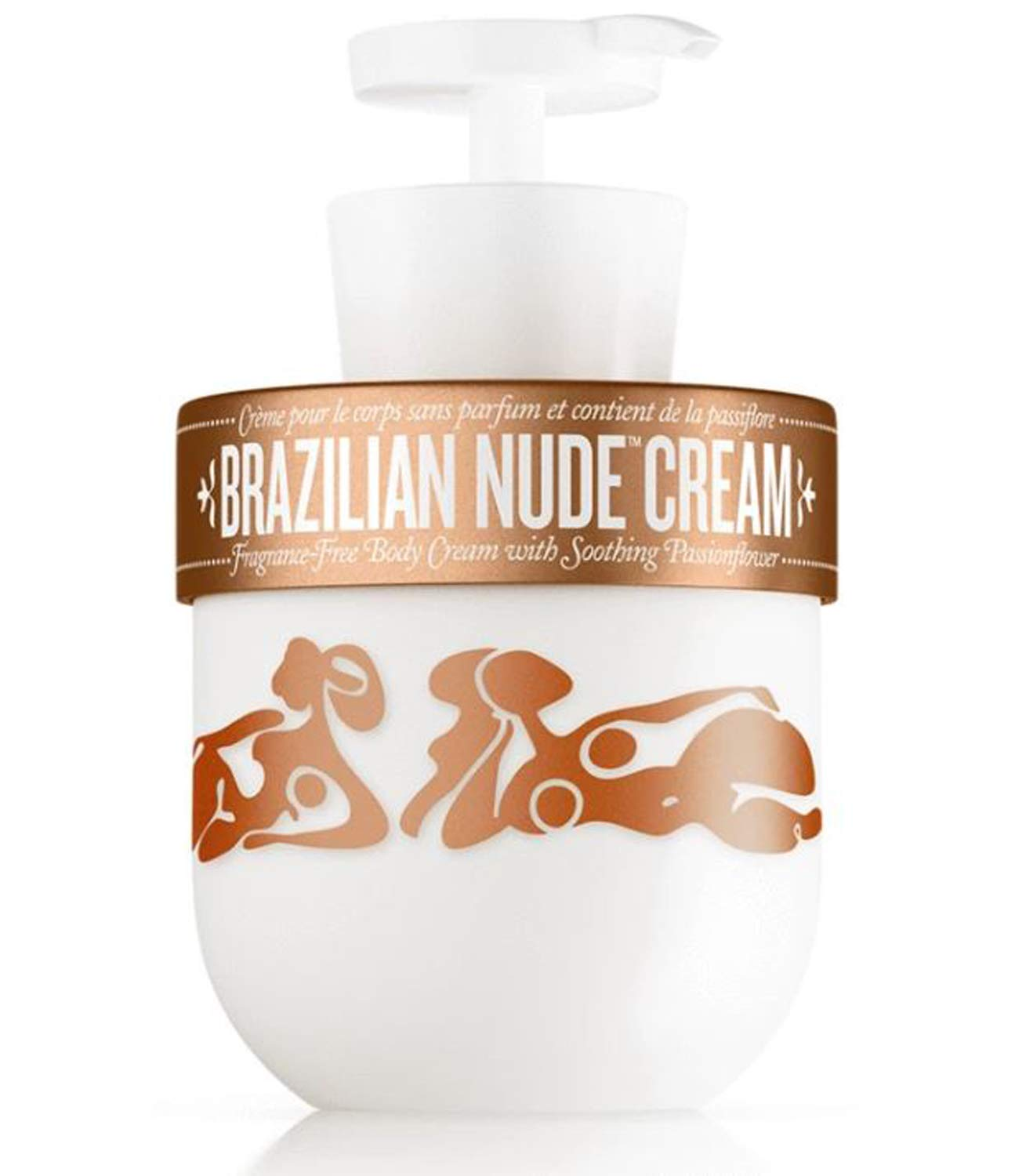 Sol De Janeiro Brazilian Nude Cream 13 Oz! Fragrance Free Body Cream With Soothing Passionflower! Creamy Soft Daily Body Moisturizer! Nourish And Gently Soothed Skin!