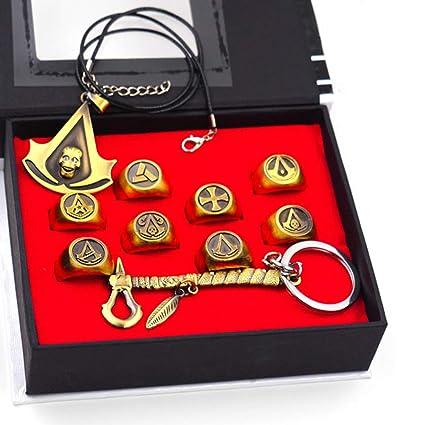 UII AssassinS Creed Necklace Colgante Llavero de aleación ...