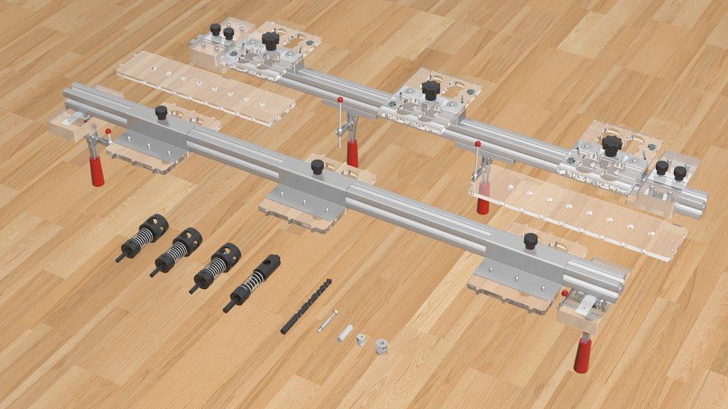 Sablon Minifix-3 Head & Shelving & Dowel Connection Jig 3/4'' (18-19mm)