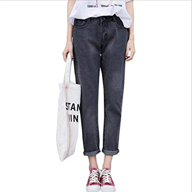 3abe21570958d Image Unavailable. Image not available for. Color  TiGcTRly Woman Loose Plus  Size High Waist Casual Denim Harem Pants
