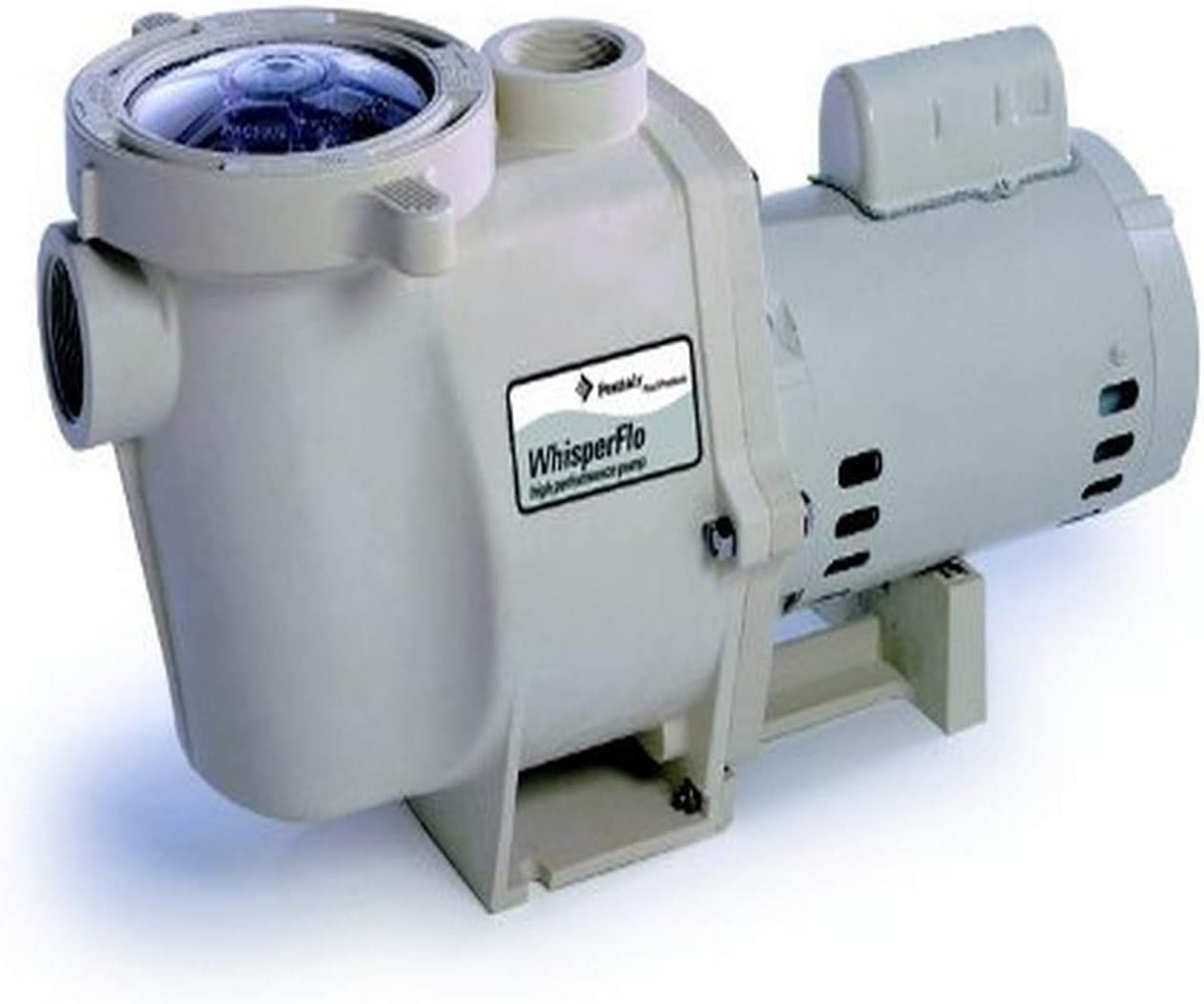 Pentair 011775 WhisperFlo High Performance Standard Efficiency Single Speed Up Rated Pool Pump, 2 1/2 Horsepower, 230 Volt, 1 Phase