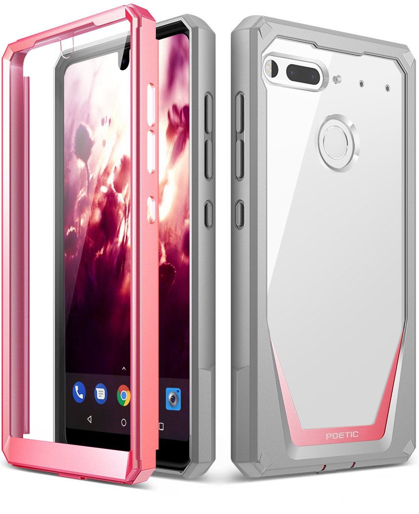 Essential Phone PH-1 Case, Poetic Guardian [REVISED VERSION] [Scratch Resistant] [360 Degree Protection] [NOT Compatible with Tempered Glass] Full-Body Case with Built-in-Screen Protector for Essential Phone PH-1 Green Guardian-Essential-PH-1-Green