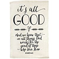 Dicksons Its All Good Romans 8:28 Cursive Script 24 x 36 All Cotton Throw Rug Accent
