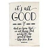 It's All Good Romans 8:28 Cotton Throw Rug 24″ x 36″