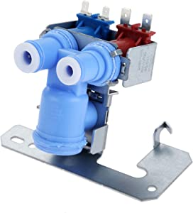 WR57X10032 Refrigerator Dual Solenoid Water Inlet Valve Re032 Refrigerator Water Valve Replacement, Replaces 880070 AH304374 EA304374 PS304374 WR57X10040, Compatible with Kenmore GE Hotpoint Sears RCA