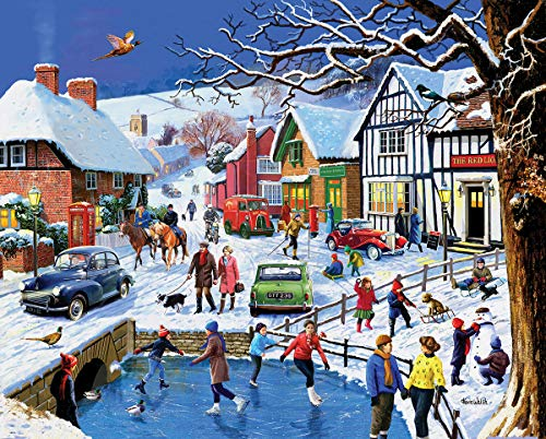 White Mountain Puzzles Festive Village - 1000 Piece Jigsaw Puzzle]()