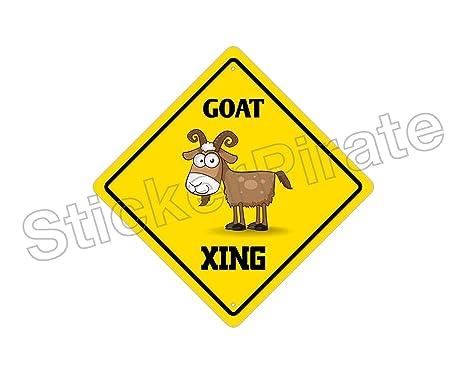 Bull Crossing Funny Metal Aluminum Novelty Sign