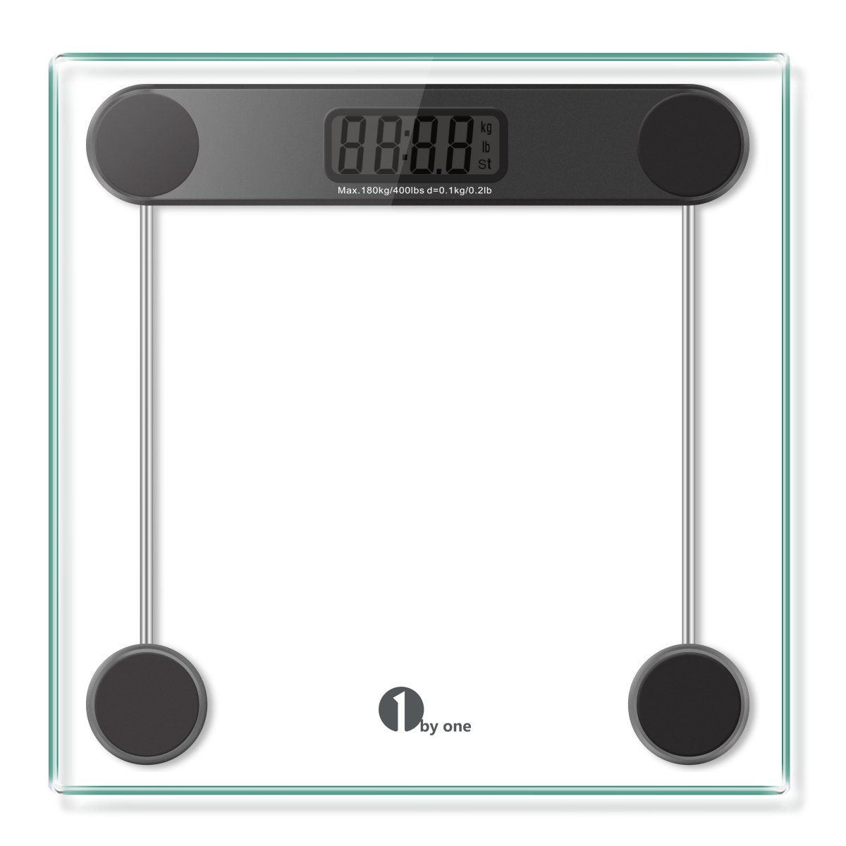 Amazon scale bathroom - Amazon Com 1byone Digital Body Weight Scale Bathroom Scale With Step On Technology 6mm Glass Max Weight 400 Pounds Health Personal Care