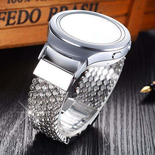 rhinestone bands bracelet stainless for ionic strap fitbit alloy steel band replacement adjustable bling product metal
