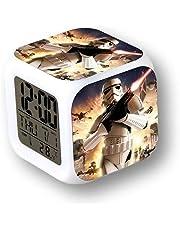 MoodiCare Reloj Digital con Alarma, Temperatura y Efectos de luz.
