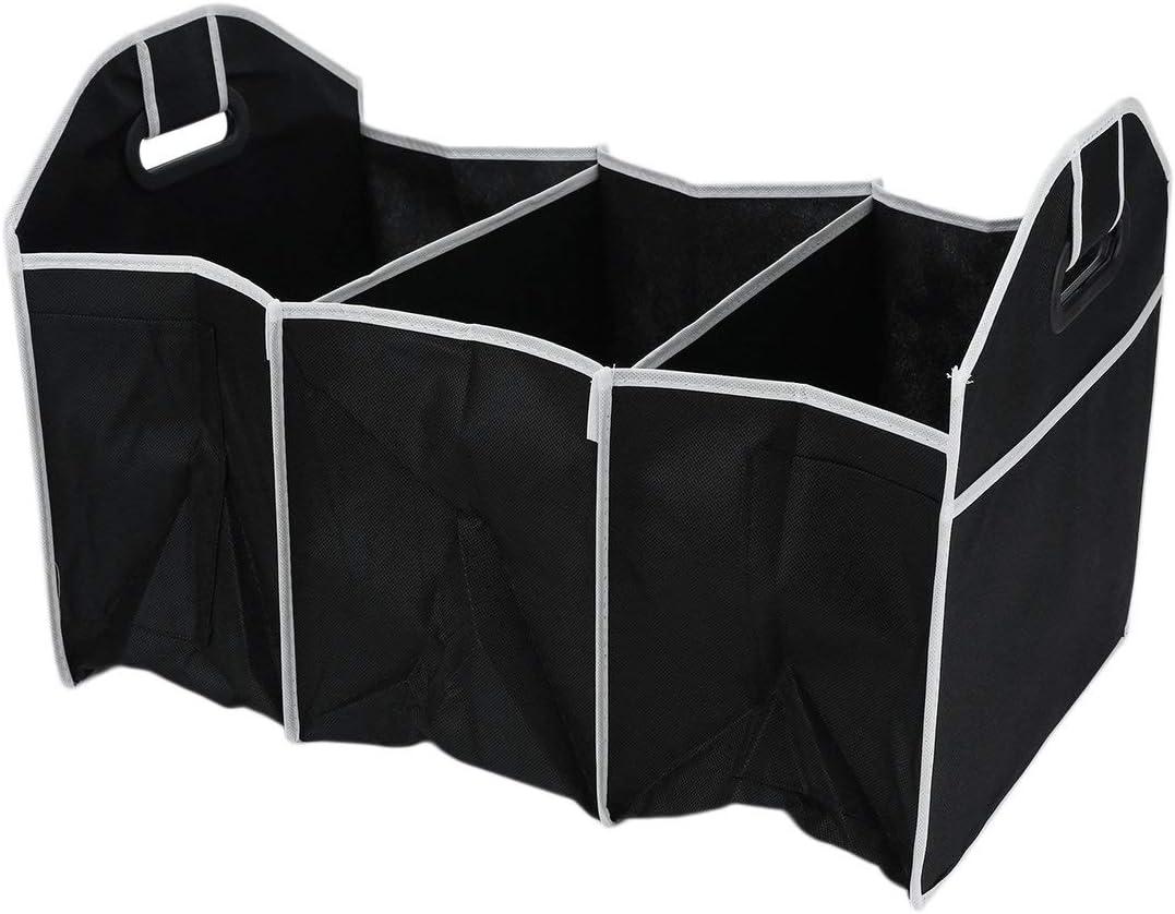 QLJ Caja de Almacenamiento de Coche Robusta Robusta Plegable Plegable Organizador de Maletero de Coche Caja de Almacenamiento de Ahorro de Espacio Plegable ordenado de Compras-Negro