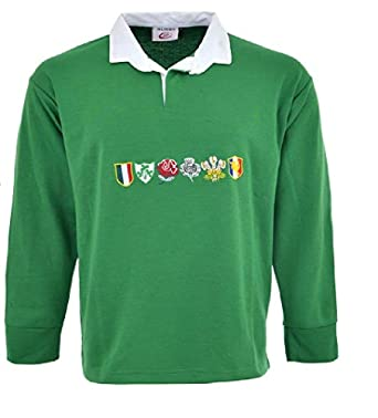 1080298889a Men 6 Nation Full Sleeve Rugby Fan Shirts Size S to 5XL: Amazon.co.uk:  Clothing