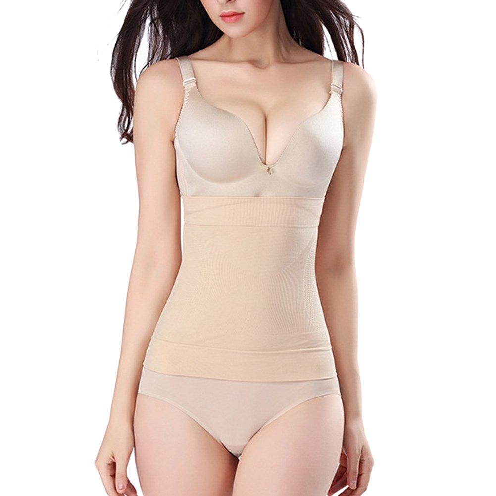 Zhhlinyuan Soft Seamless Waist Trainer Belts Postpartum Women Belly Wrap Shapewear