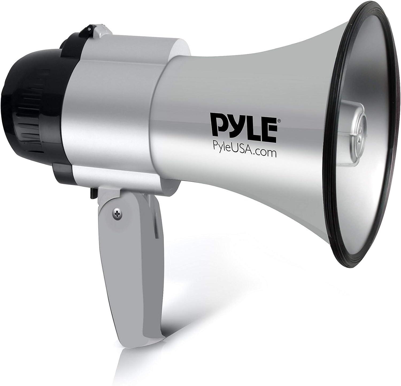 Musik verstellbarer Lautst/ärkeregler BEMLDY Tragbares Megafon Bullhorn 30 Watt Leistung mit eingebauter Sirene Alarm leistungsstark und leicht