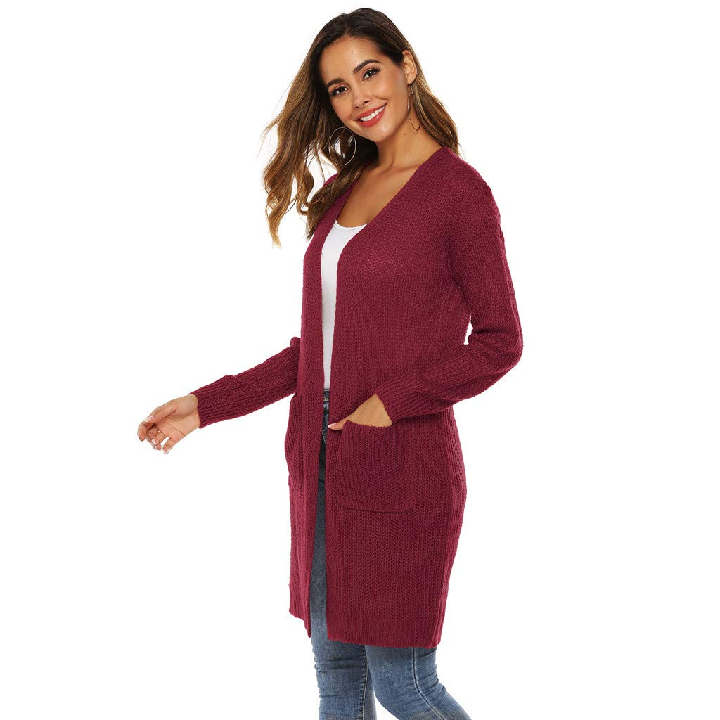 FIRERO Women Pullover Casual Long Sleeve Loose Tops Sweatshirt with Pockets
