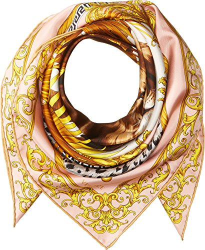 Versace  Men's Lion Scarf Pink One - Lion Versace