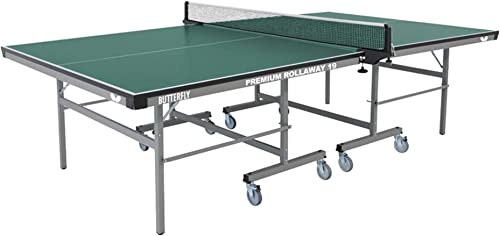 Butterfly Premium 19 Rollaway Table Tennis Table 3 Year Warranty Ping Pong Table Ping Pong Table Official Size Sturdy Frame for Schools, Rec Centers, or Game Rooms Folds with Wheels